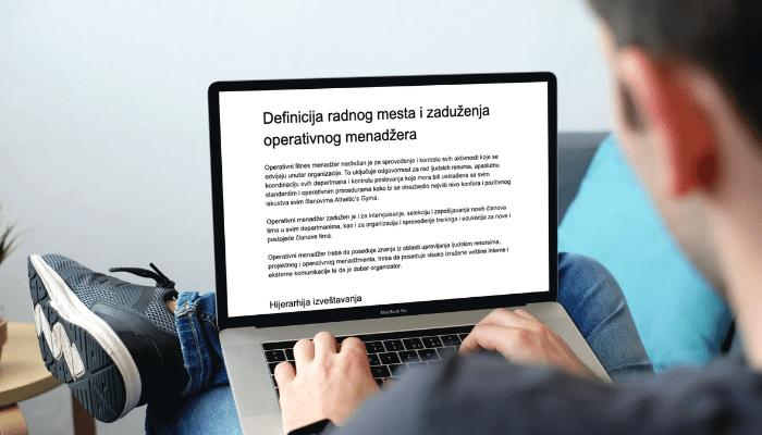 Definicija radnog mesta i zaduženja operativnog menadžera